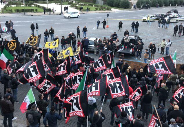 manifestazione Forza nuova a Roma