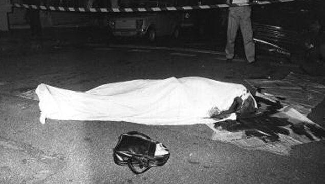 Il corpo del magistrato Mario Amato